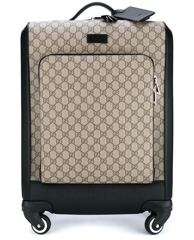 0ff7c390dd85 GUCCI Gg Supreme Canvas Wheeled Suitcase. #gucci #bags #leather #lining  #travel bags #canvas #suitcase #