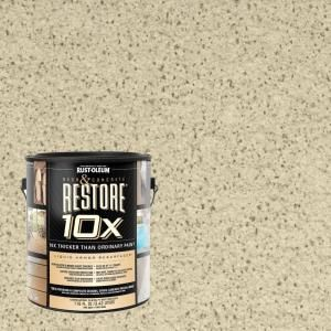 Rust Oleum Restore 1 Gal Sailcloth Deck And Concrete 10x Resurfacer 46150 The Home Depot Concrete Resurfacing Concrete Rustoleum Restore