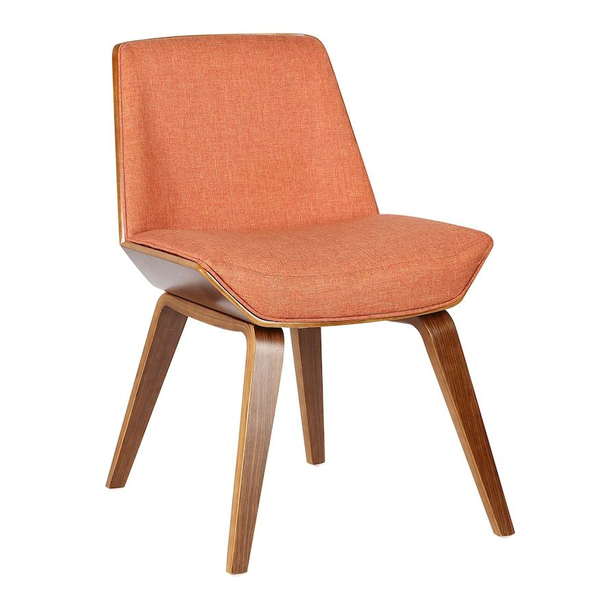 Armen Living Agi Mid Century Modern Dining Chair Orange In 2020 Midcentury Modern Dining Chairs Dining Chairs Mid Century Dining Chairs