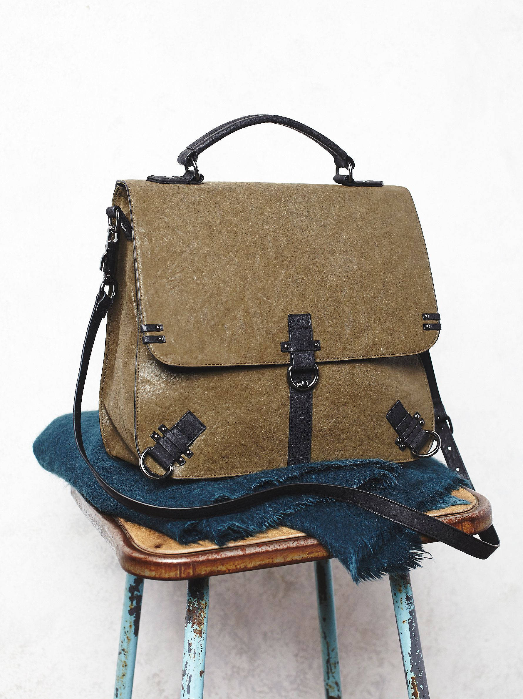 Free People Felix Vegan Messenger At Clothing Boutique Leather Bagsleather