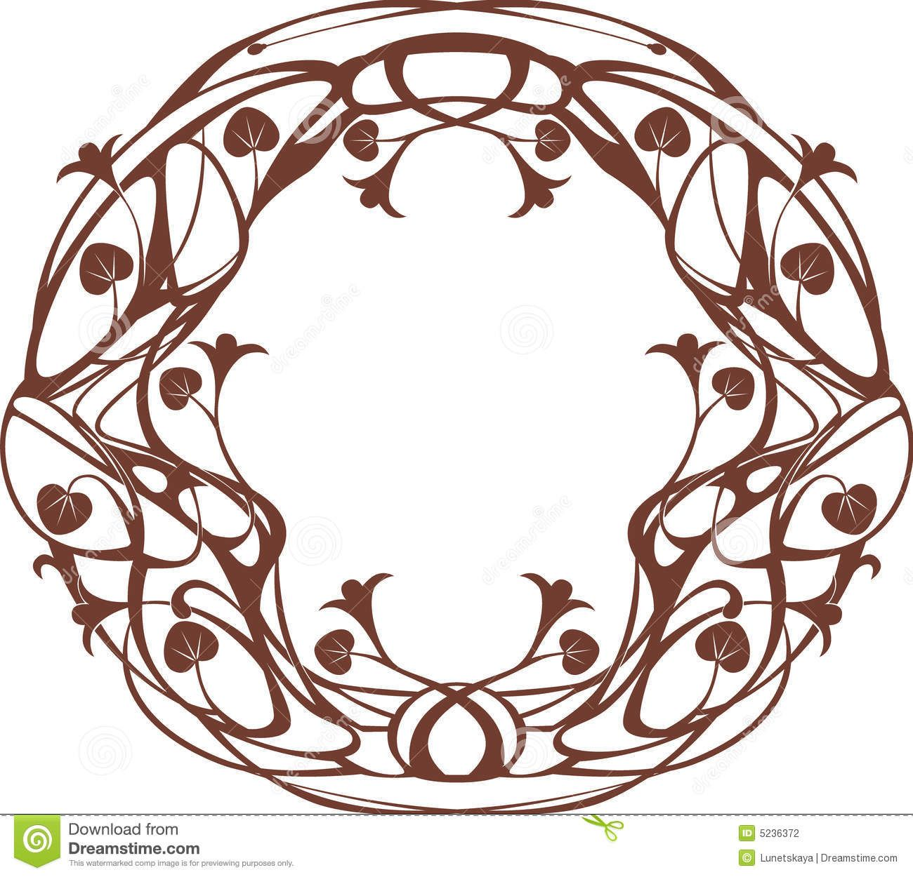 Art Nouveau Frames Royalty Free Stock Photography - Image ...
