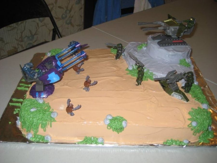 Halo Birthday Cake Halo cake I made for my sons 11th birthday He