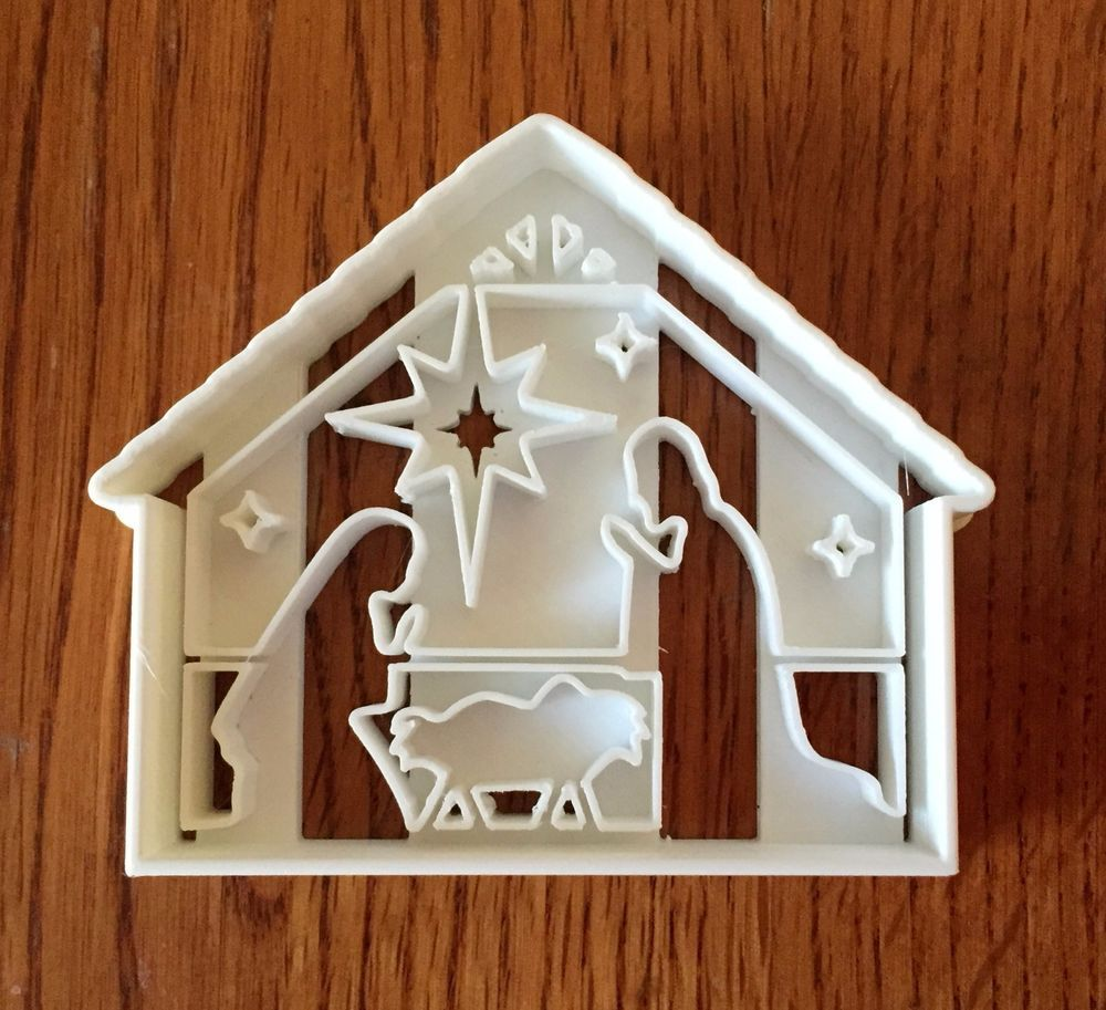 Christmas Nativity cookie and fondant cutter US SELLER