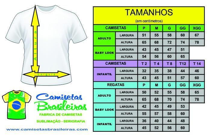 Camisetas Brasileiras - Camiseta Infantil Branca Fio 30.1  e5bb156281396