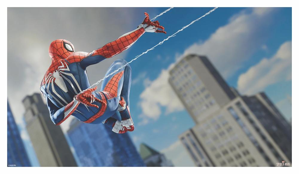 Marvel S Spider Man Game Art Goes On Sale Thursday 9 24 1 Pm Et Grey Matter Art Spiderman Game Art