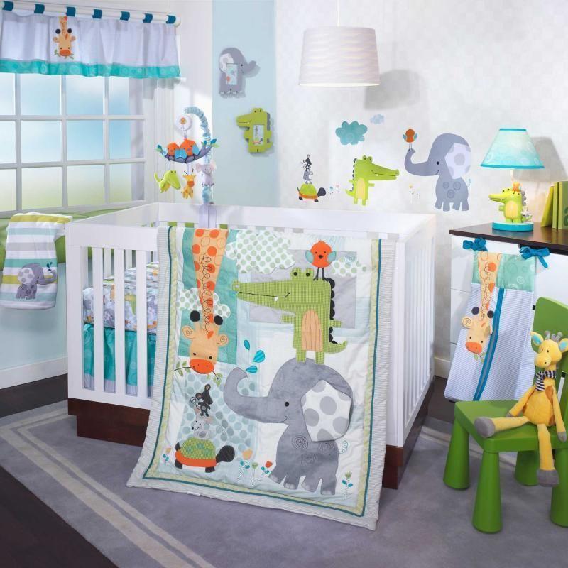 jungle animals giraffe elephant and alligator unisex 4. Black Bedroom Furniture Sets. Home Design Ideas