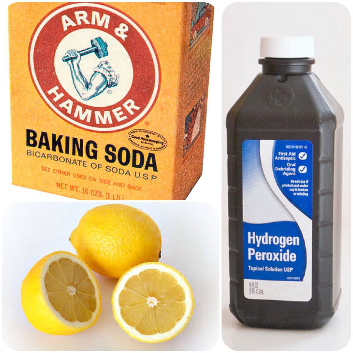 Mix Baking Soda Peroxide And Lemon Juice In A Bowl To Barely A