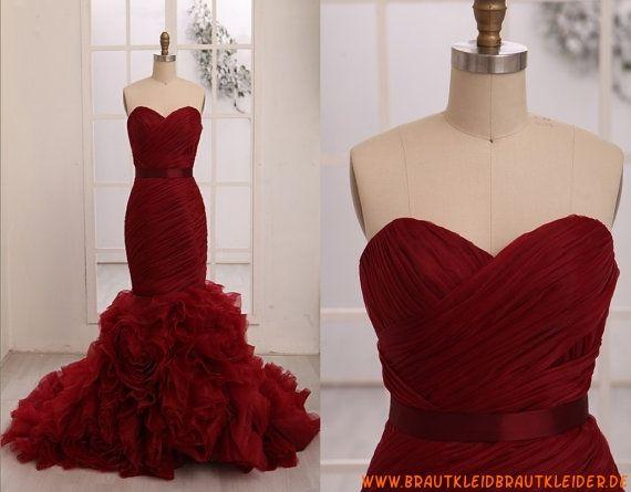 Herz-ausschnitt Meerjungfrau Extravagantes Brautkleid 2013 aus ...