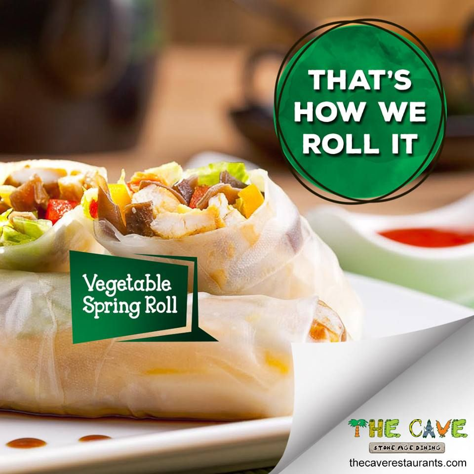The Cave Best Veg Restaurant In Kolkata Veg Restaurant Veg Dishes Vegetable Spring Rolls