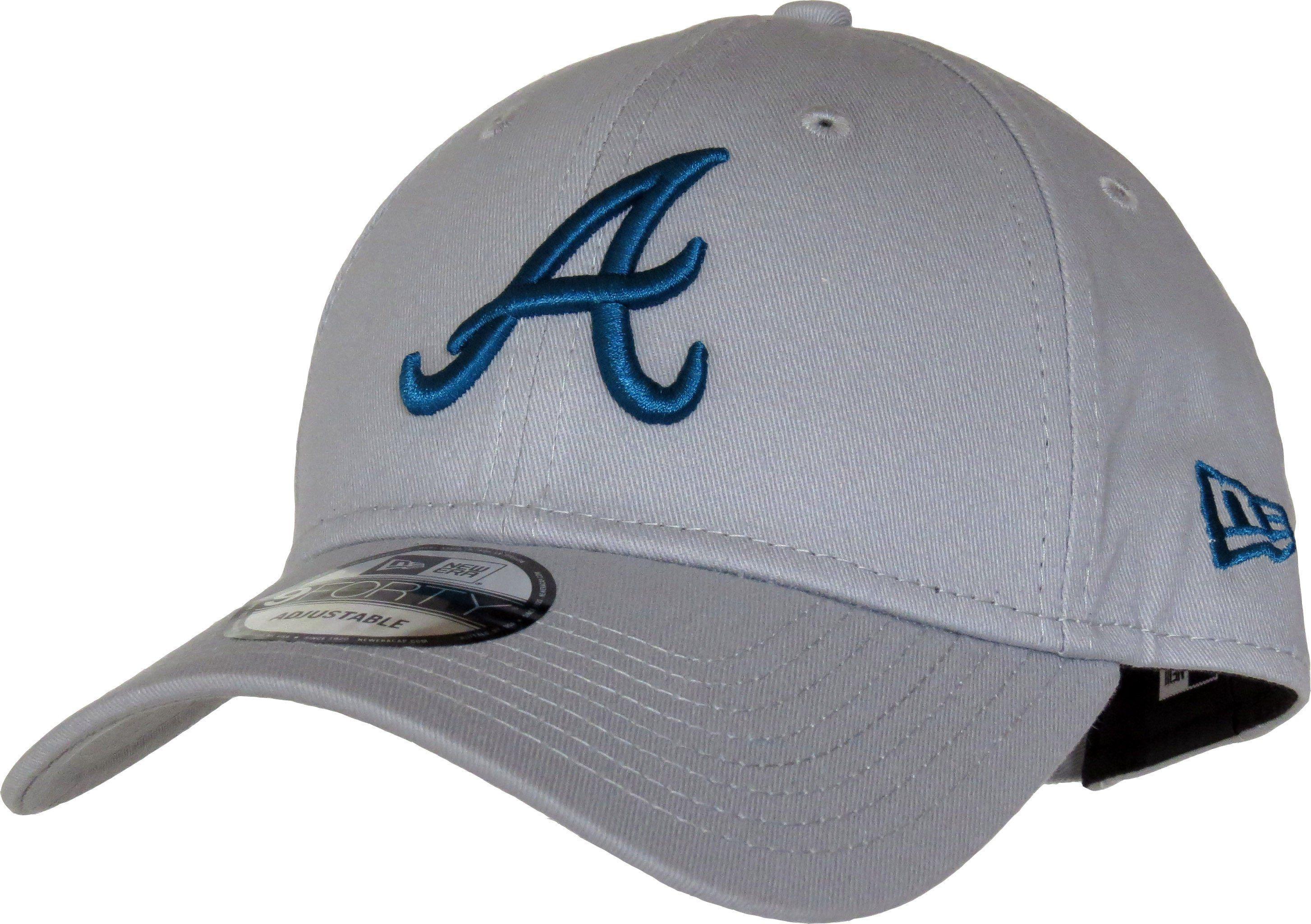 b0e9d5f3f4d1e ... ebay new era 940 league essential atlanta braves baseball cap grey with  the blue atlanta braves