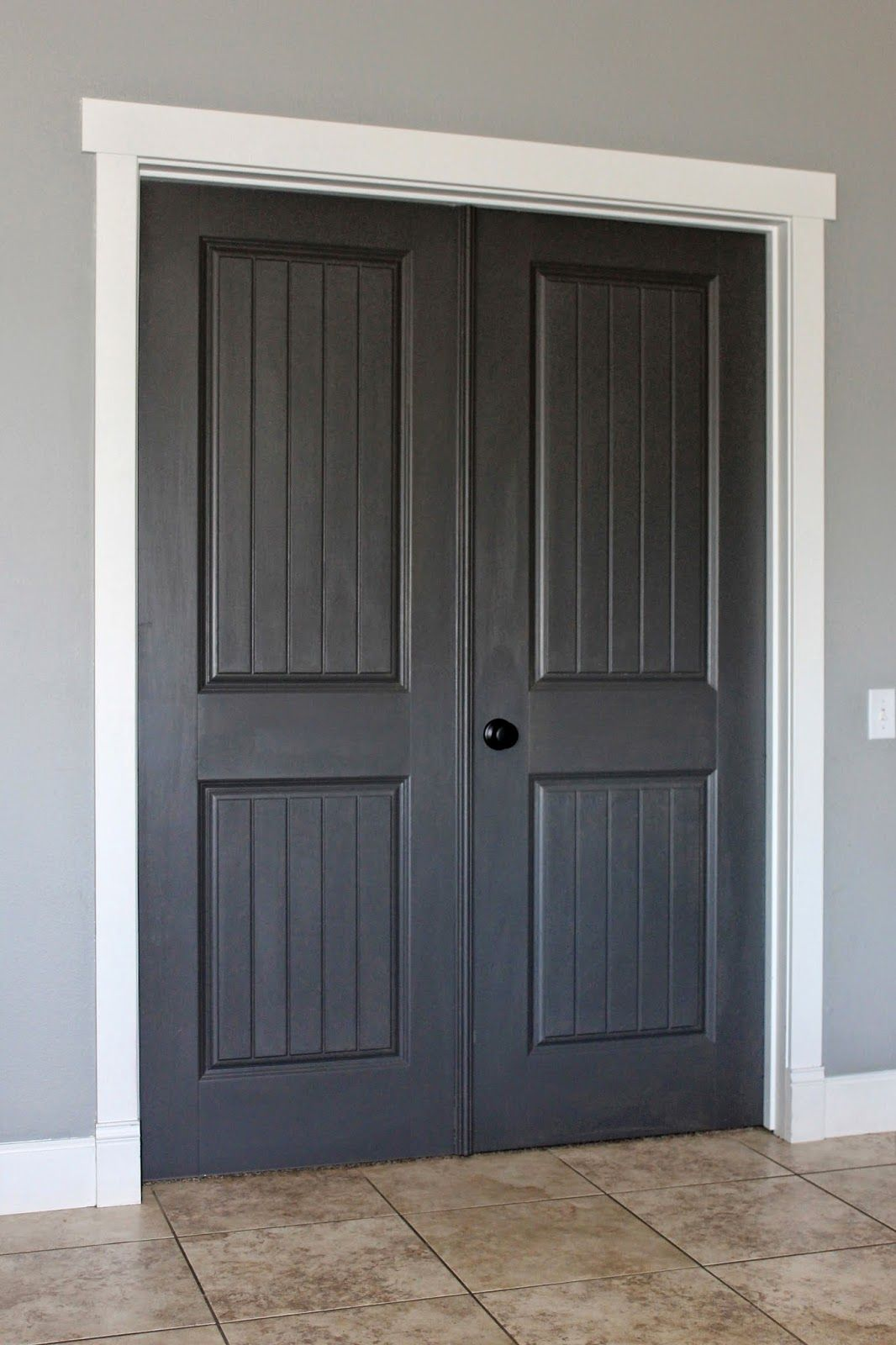 *Closet Doors* Behr Classic Silver, Dark Granite, And Silky White