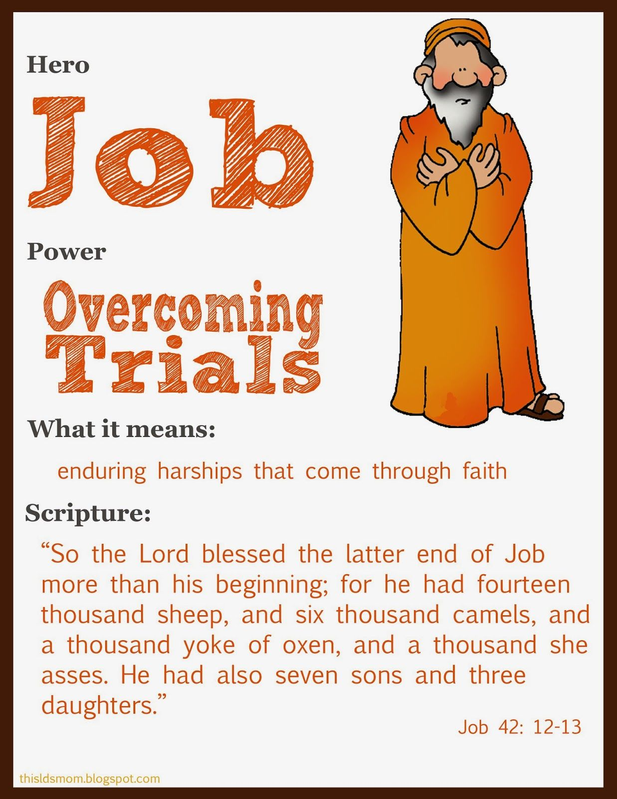 This LDS Mom Scripture Heroes Job Scripture study lds