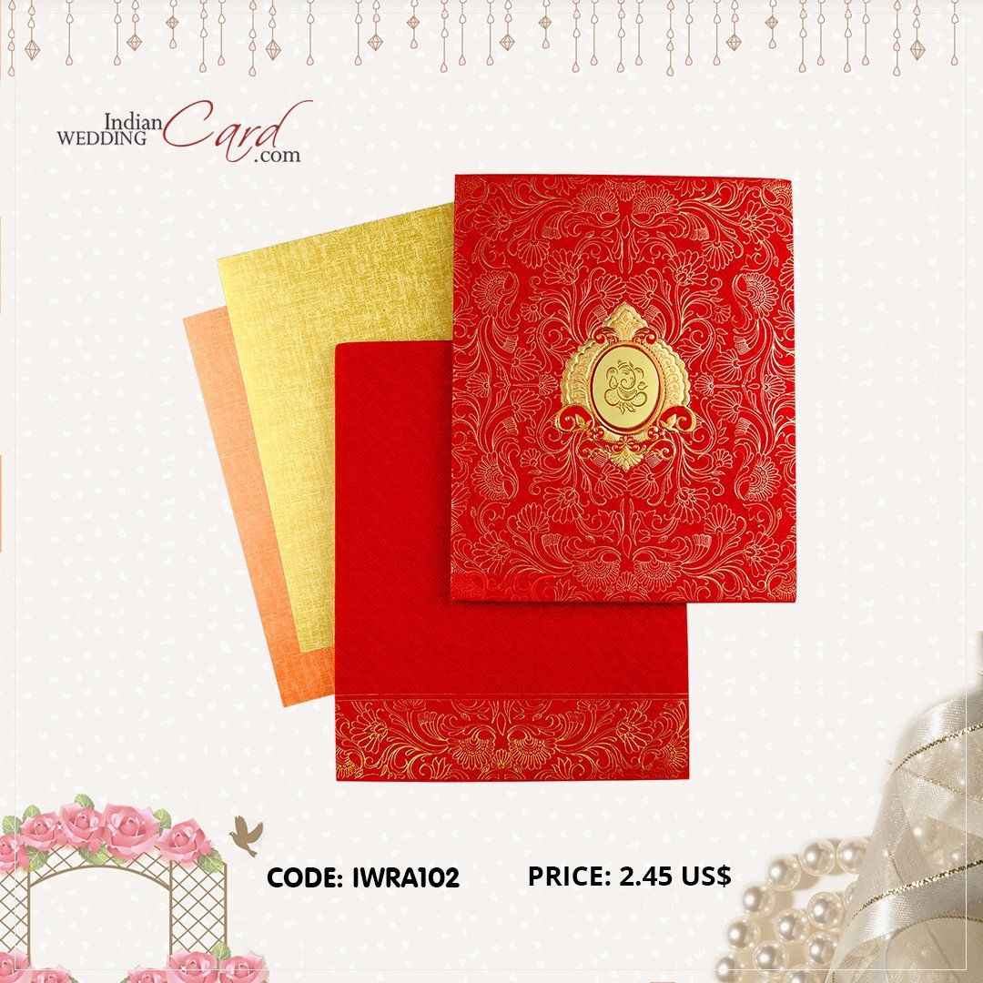 iwra112 red color hindu cards  wedding cards indian