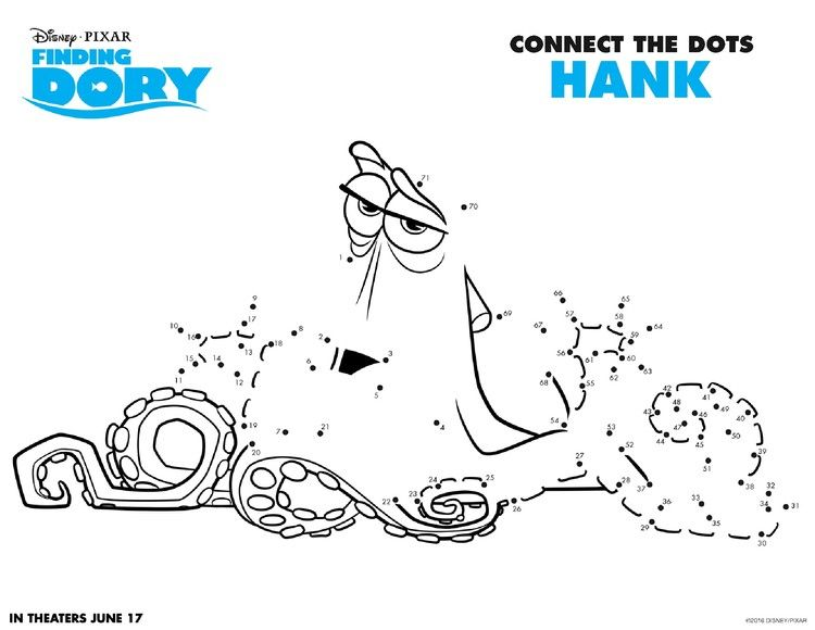 Get Ready for #FindingDory With Fun Activity Coloring Sheets - new pixar coloring pages finding nemo