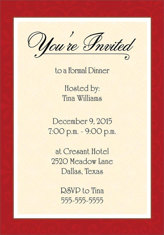 Dinner Party Invitation Templates Invitation Cards  Dinner