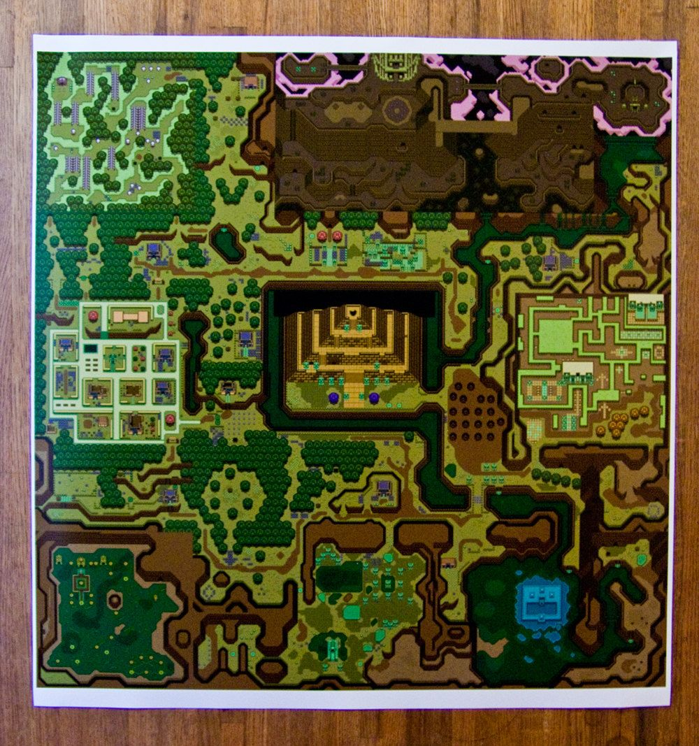View Topic Zelda A Link To The Past Map Light World Geek Cross Stitch Cross Stitch Map Diy Cross Stitch