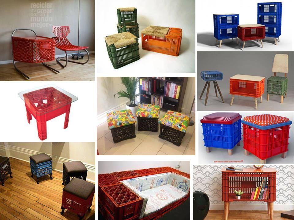 Muebles Con Cajas Plásticas Reciclar Es Crear Por Un Mundo Mejor Furniture Home Decor Kids Rugs