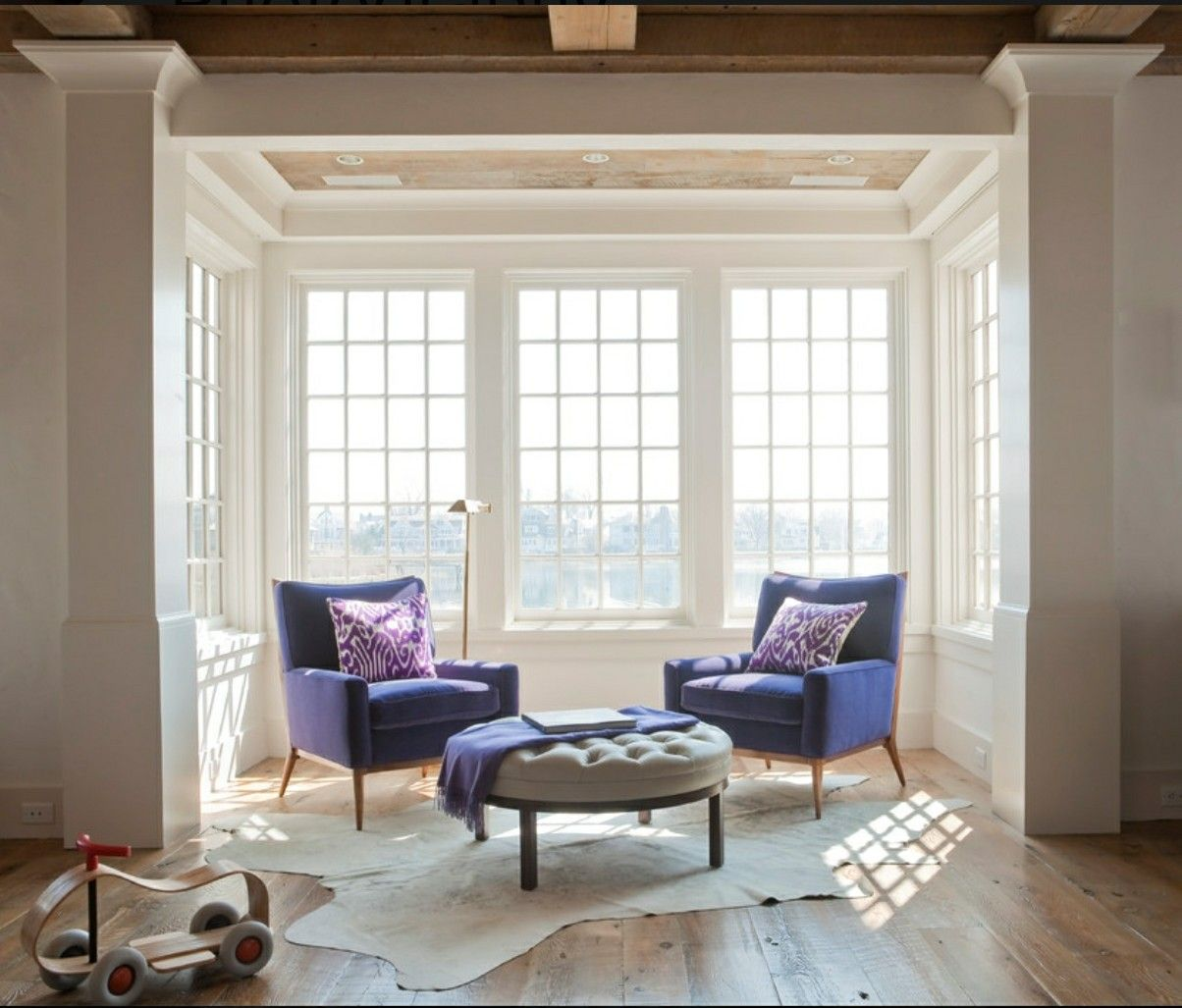 Awesome Curtain Ideas For Bay Window Living Room Eclectic: Coastal Beach House In Old Greenwich With Gorgeous Windows