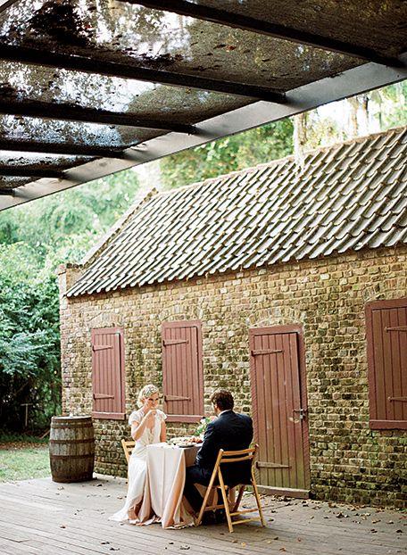The wedding was held at Boone Hall, a 333-year-old plantation outside Charleston, South Carolina. (Photo Credit: Marni Rothschild) #SouthernWeddings
