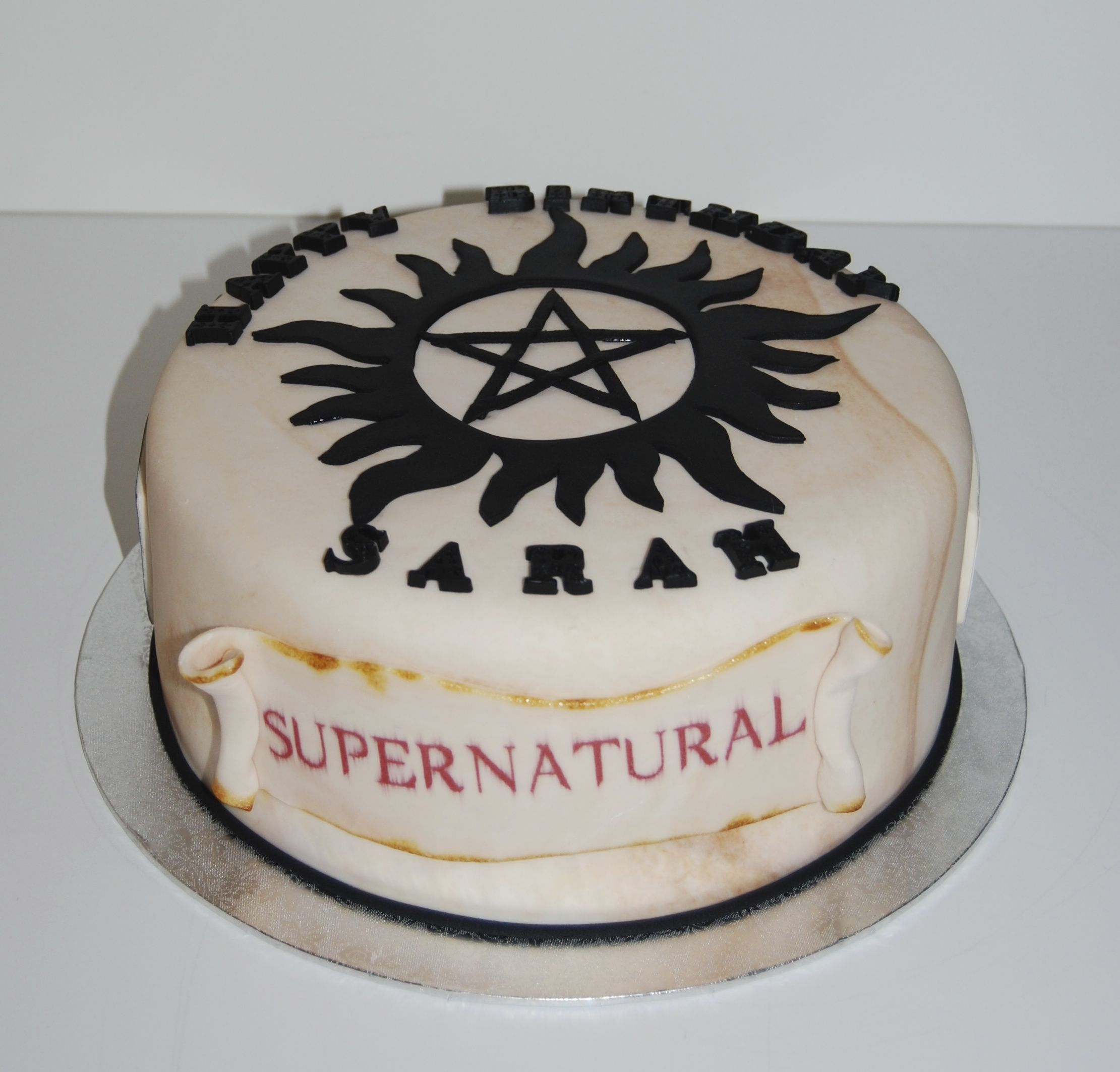 supernatural birthday cake birthday cake pinterest