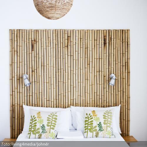 Das Betthaupt aus Bambus zaubert unser Fernweh davon und den - bambus im wohnzimmer