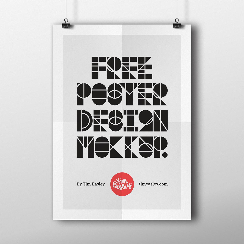 Poster design maker - Free Poster Design Mockup On Behance