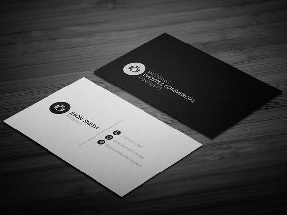 Photographer business card 002 business card designs pinterest photographer business card 002 by awns creators on creative market colourmoves