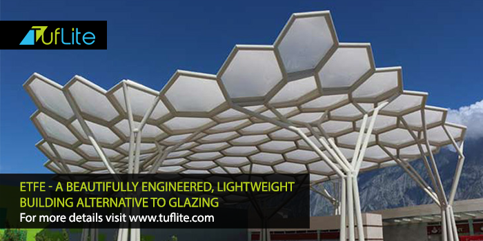 Etfe A Beautiful Engineered Light Weight Building Alternative To Glazing Tuflite Polymers For More Details Vis Greenhouse Panels Roofing Roofing Materials