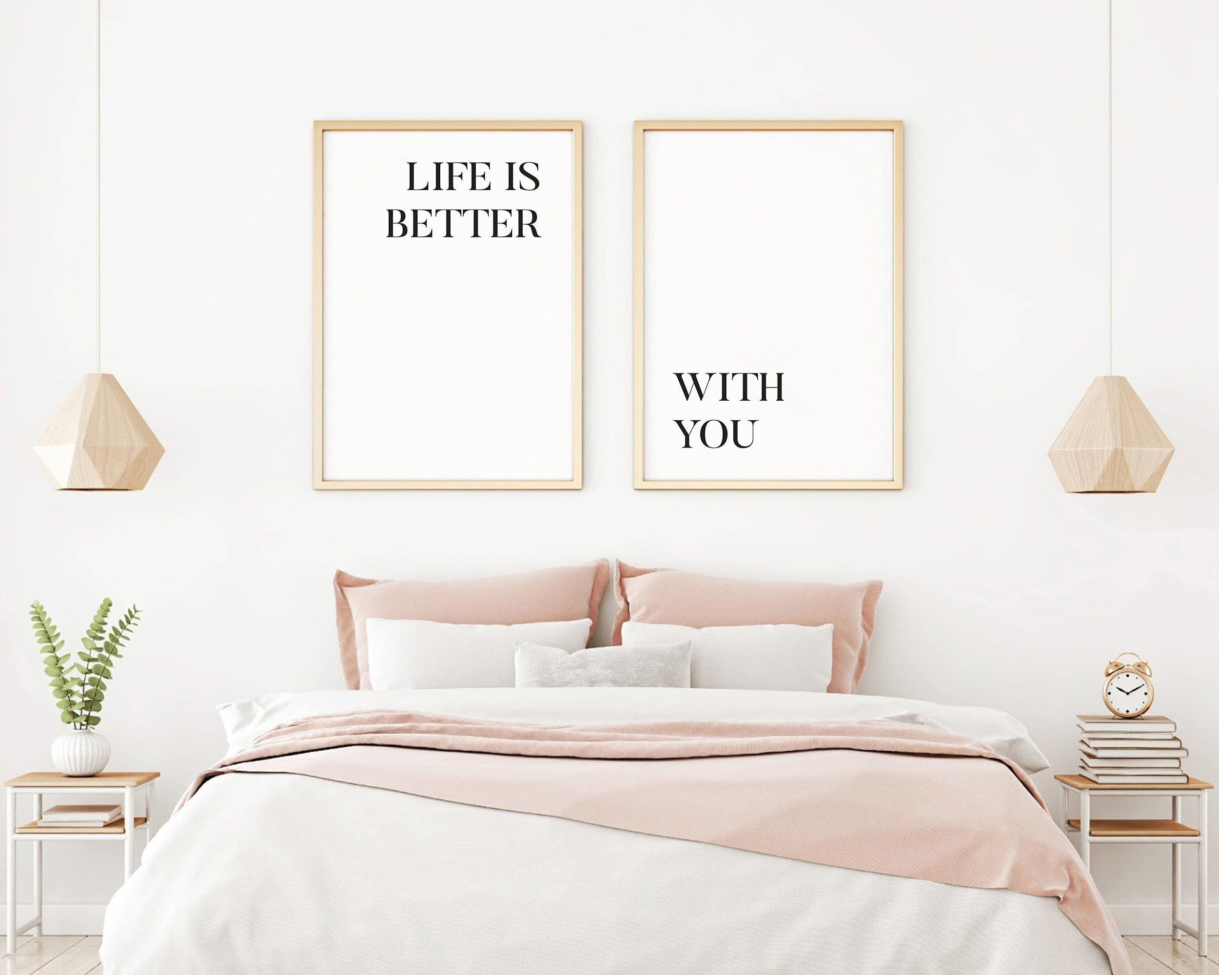 Except with hitchhikers quote above bed