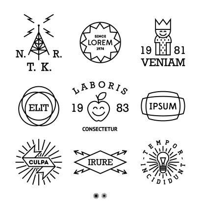 Vintage Minimal Labels With King Shield Cow Logo Hipster Free Vector Art Vintage Labels
