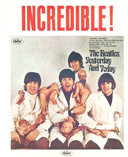 The Beatles Butcher Cover Poster 23x35 Yesterday Today Original