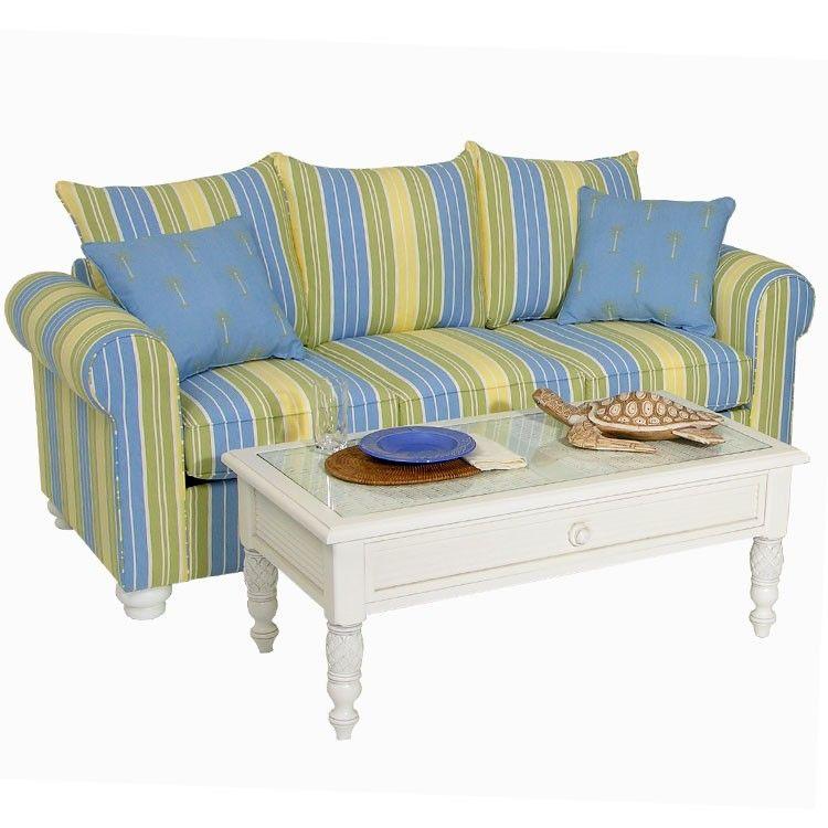 Venice Indoor Upholstered Queen Sleeper Sofa Striped