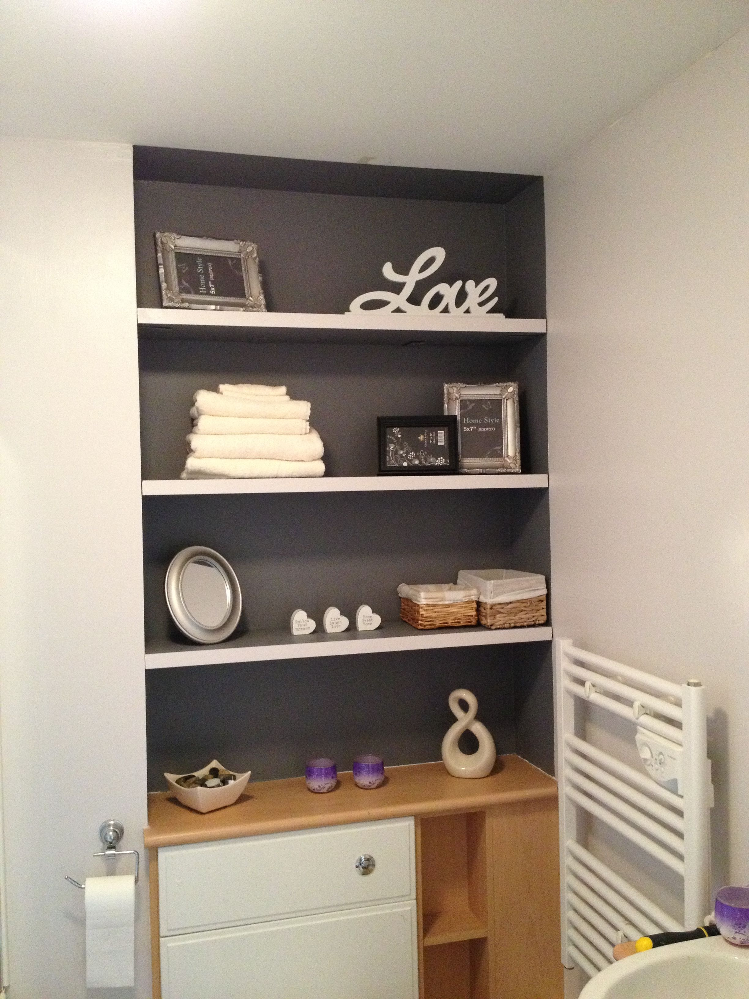 Grey Alcove Shelving Like The Idea Of Painting Alcove A Different Colour House Interior Home Decor Alcove Shelving
