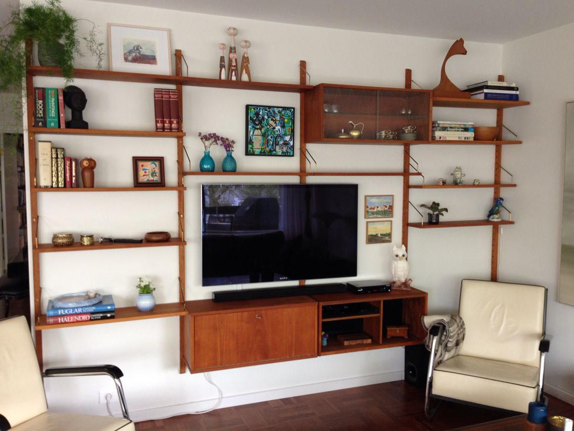 Mid Century Teak Wall Unit Mid Century Modern Living Room Mid Century Modern Bookcase Modern Furniture Living Room