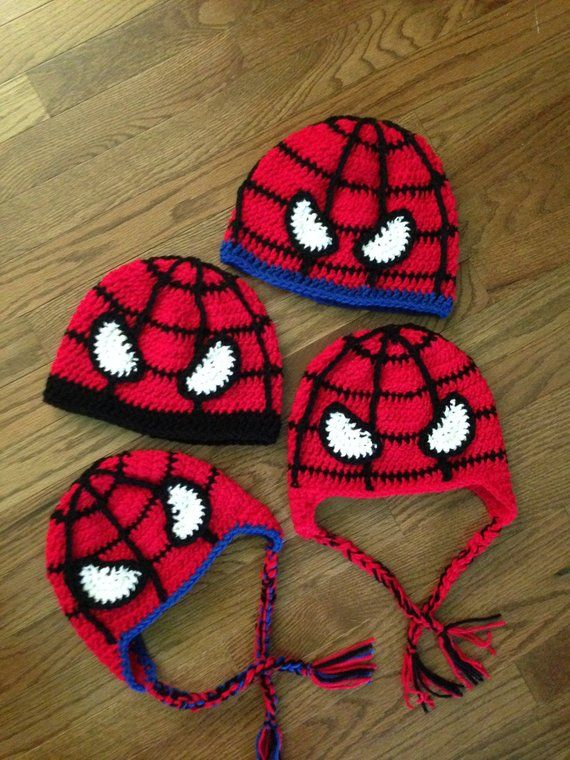Crochet PATTERN for Superhero Spiderman Inspired Spider Web Hat ...