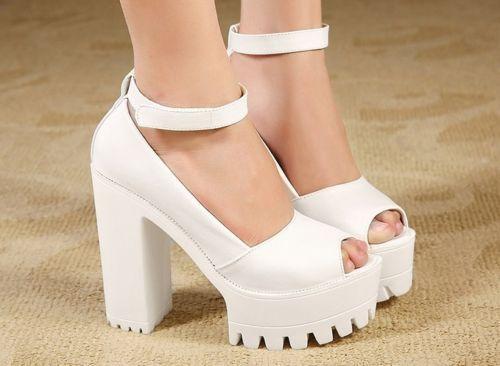Wasserdichte Plateauschuhe High Heel Sandals Thick Platform Heel, Rosa, 37