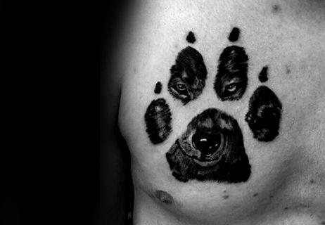 50 Wolf Paw Tattoo Designs For Men Animal Ink Ideas Tatouages Patte Idees De Tatouages Modele Tatouage
