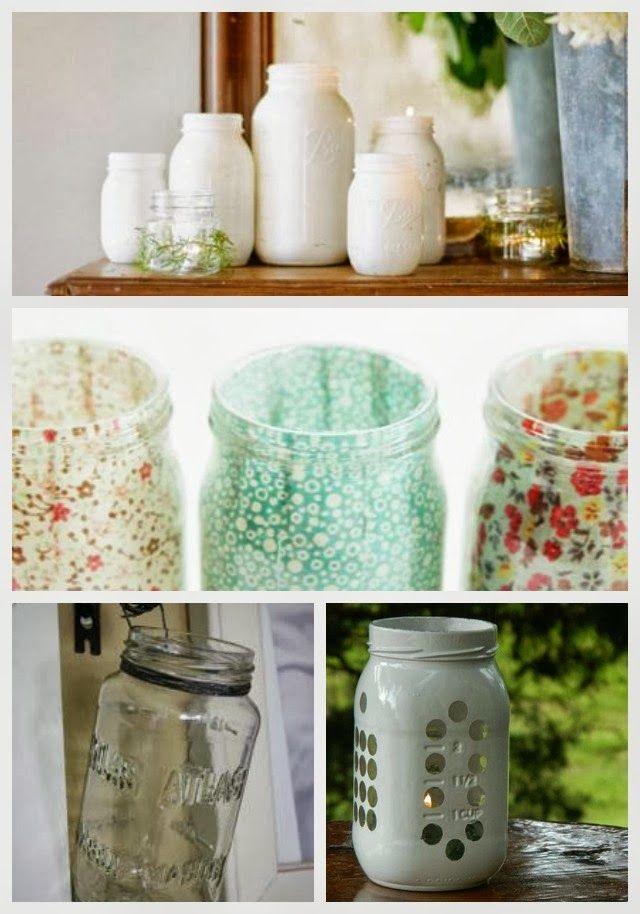24 Best Diy Mason Jar Vases Votives Photo Holders Mason Jars