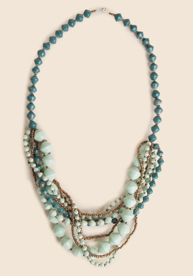 Marble Weave Indie Necklace