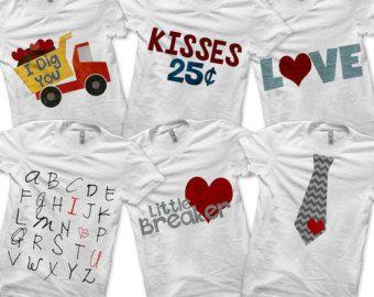 valentine bundle pack iron on tie shirt pdf boys valentine outfit valentines day - Boys Valentines Shirt