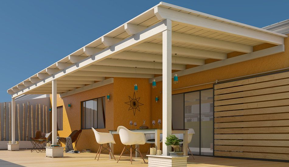 Pergolas de madera para exteriores para entrada buscar for Balcones madera exterior