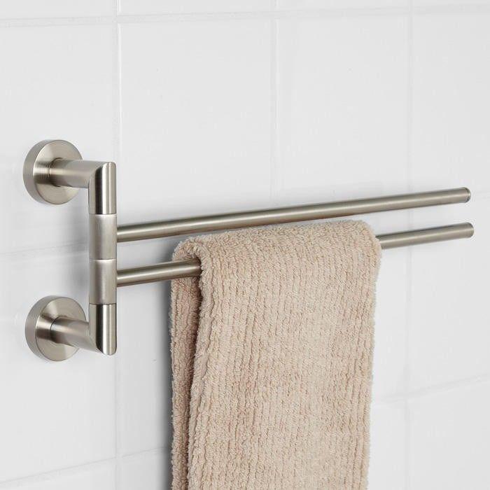 Bristow Double Swing Arm Towel Bar Bathroom Bathroom Double
