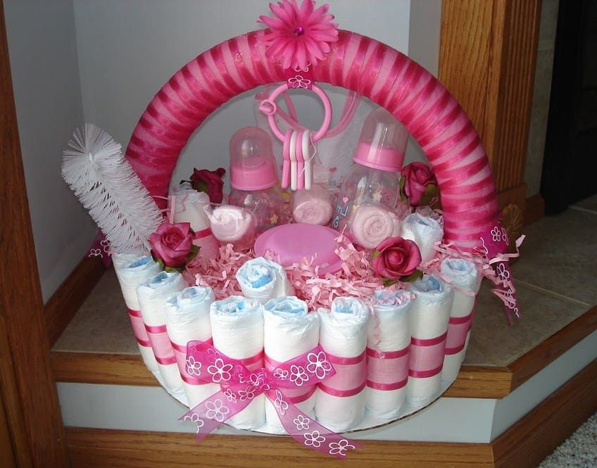 Cute Baby Shower Gift Basket Ideas For Girl Diy Baby Shower