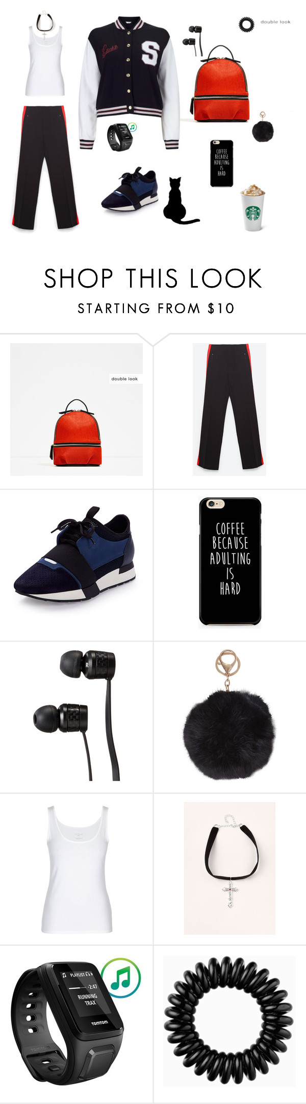 """""""Set for Alina 3"""" by julia-ikkonen on Polyvore featuring мода, Piel Leather, Balenciaga, Vans, Humble Chic, Missguided, TomTom, Invisibobble и Miss Selfridge"""