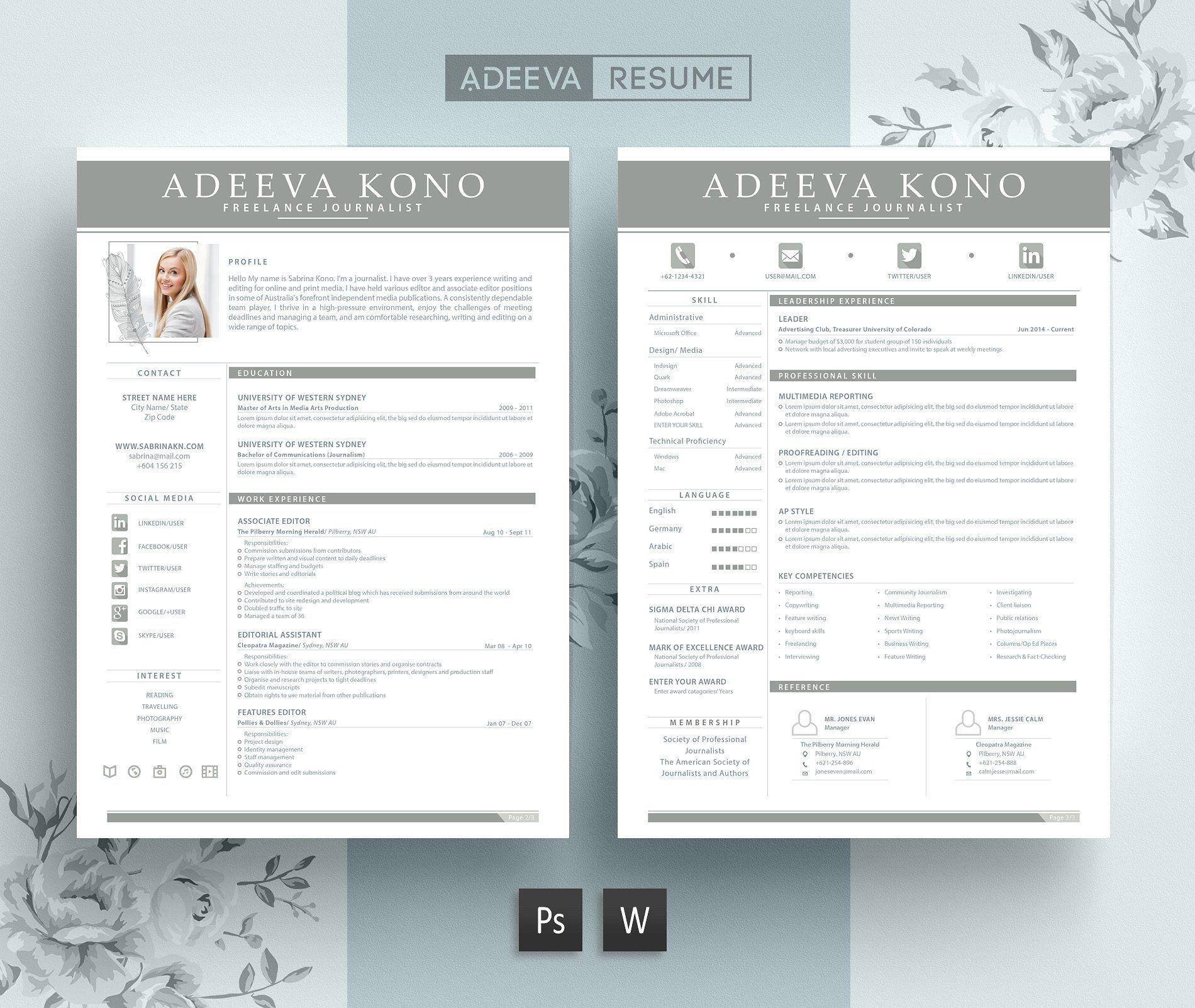 10 in 1 Resume Templates Bundle | Template
