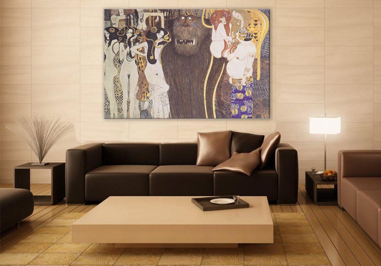 Gustav klimt beethoven frieze wall art large painting on