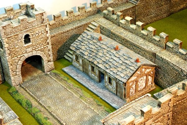 Milecastle barrack block | Wargaming - Ancient Roman | Dungeon tiles