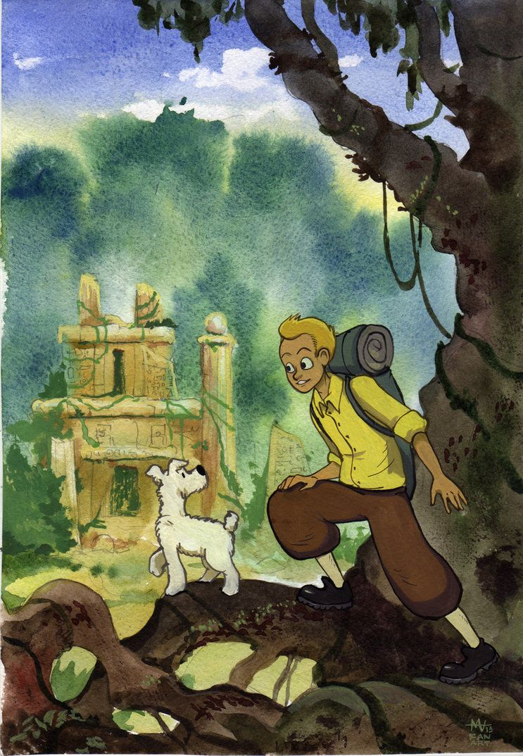 Tintin By Masha Ko Tintin Tin Tin Cartoon Deviantart