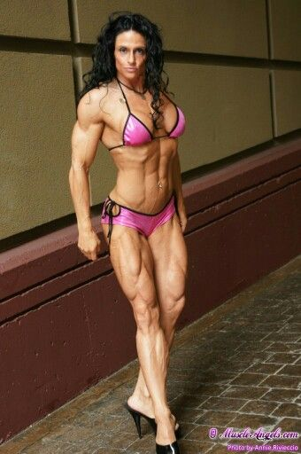 Have thought Long haired female body builder