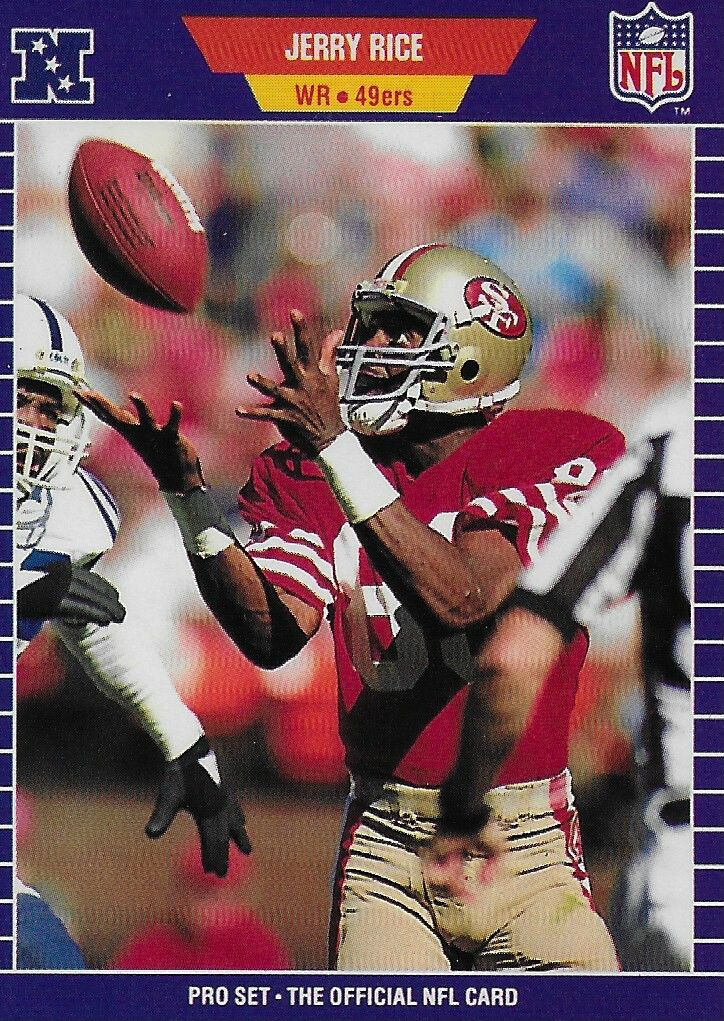 1989 pro set jerry rice football cards football mom